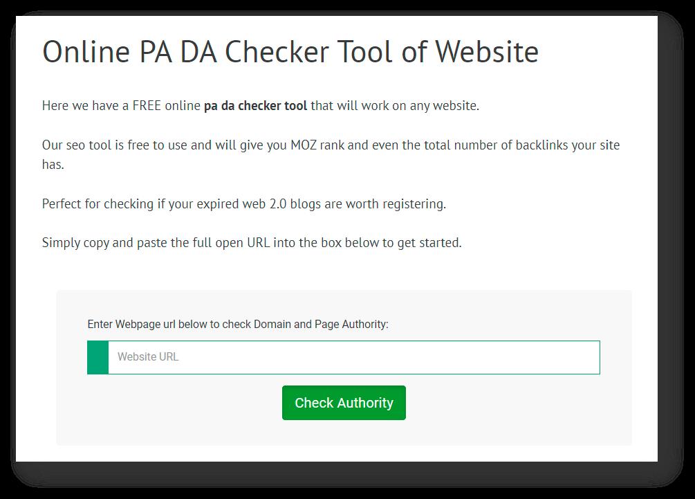Online pa DA checker tool 2021