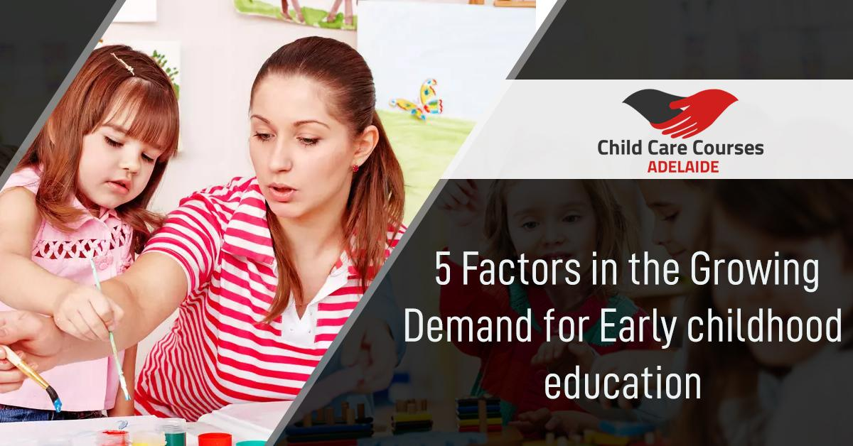 Childcare Courses Adelaide : 5 Factors in the Growing Demand for Early childhood education